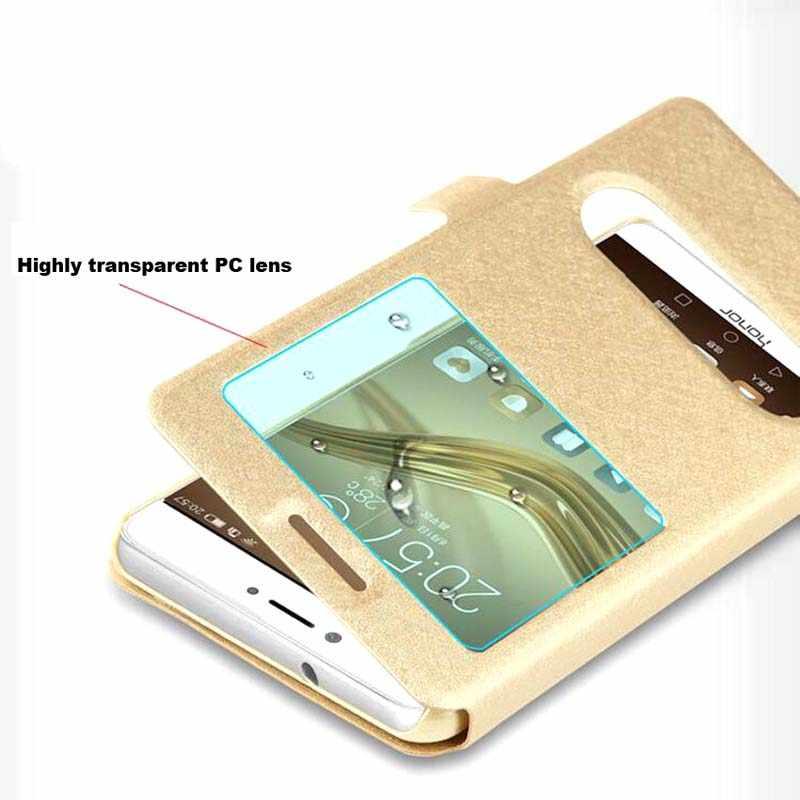 Caso de Huawei P8 P9 P10 P20 Mate 9 10 20 Nova 2 2s 3 3e 3i Pro Lite Plus 2017 Flip Windows funda de teléfono de cuero de poliuretano cubierta