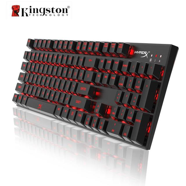 ee4cbee2c30 Kingston HyperX Alloy FPS Mechanical Gaming Keyboard Cherry MX Blue Switches  Anti-ghosting 104 Keys Red LED Backlit Backlight