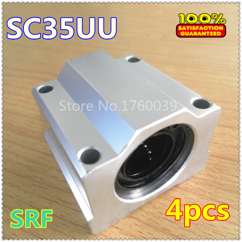4pcs 35mm Linear Motion Ball Slide Block SC35UU SCS35UU Linear Ball Bearing Block Bushing CNC Router scv25uu 25 mm linear motion ball bearing slide unit bushing