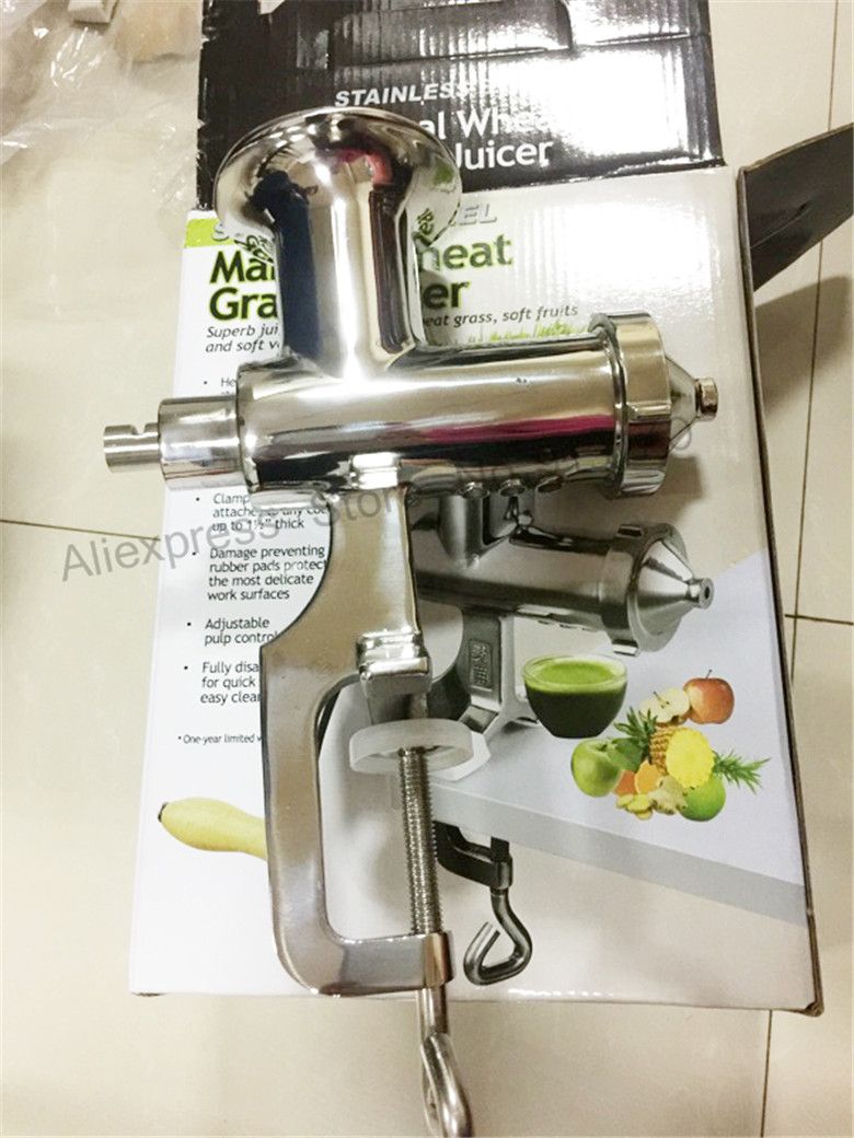 Wheat Grass Juicer Hand Operated Wheatgrass Fruit Juicer Squeezer Heavy Duty With HIGHER Juice Yield glantop 2l smoothie blender fruit juice mixer juicer high performance pro commercial glthsg2029
