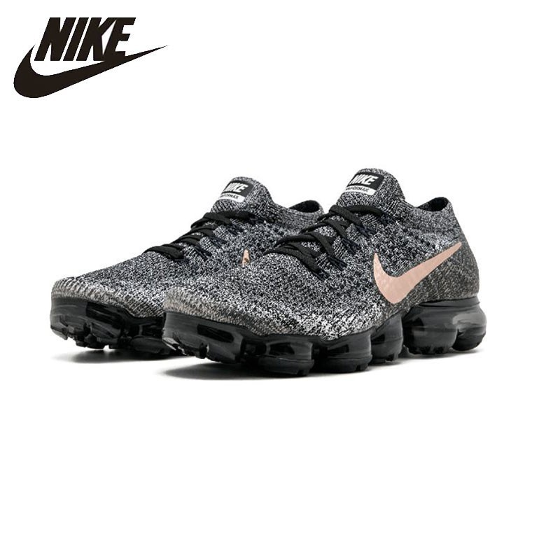 Nike AIR VAPORMAX FLYKNIT Breathable Men's Original Running Shoes Dark Grey Sports Sneakers 849558-010 носки nike elite running cushion qtr sx4850 010