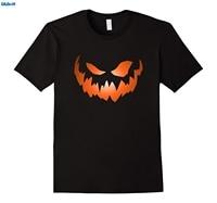 GILDAN Scary Jack O Lantern Halloween Face T Shirts Casual Man T Shirt Good Quality Top