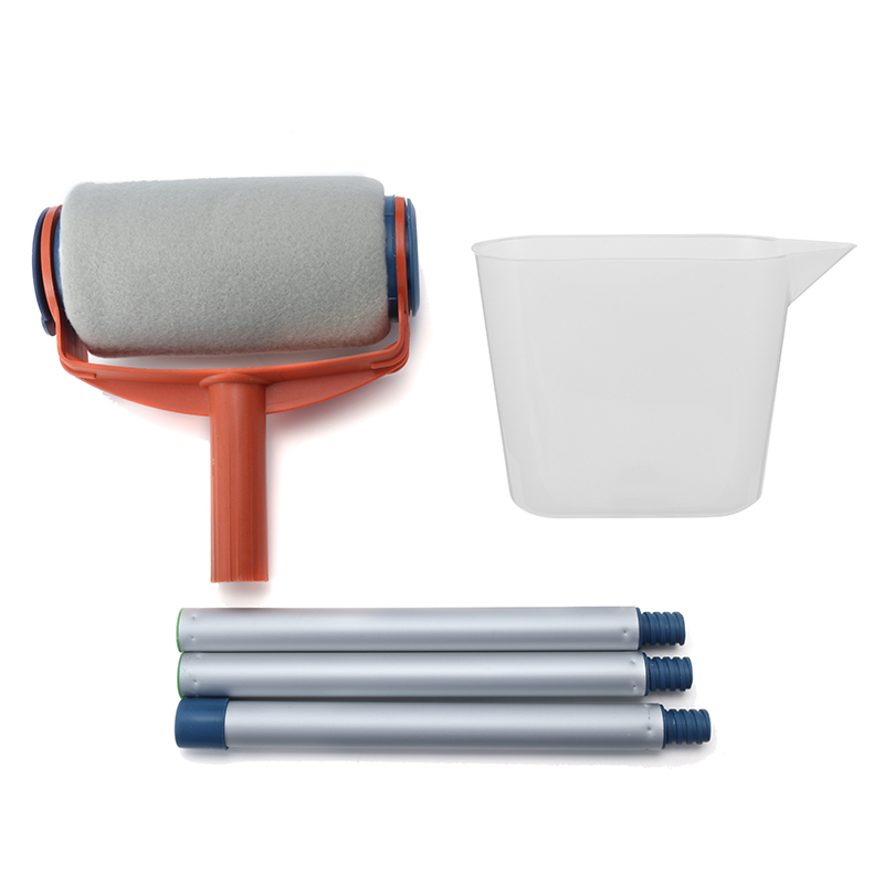 Decorative Paint Roller Set Painting Brush Household Wall Paint Tool Sets High Quality diy wall decoration tools 5 inch handle grip applicator plus 5 inch wall pattern painting roller 002y paint tool sets