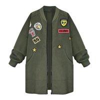Long Sleeve Slim Army Green Outwear Women Baseball Plus Size Coat Female Down Jacket Winter Jacket