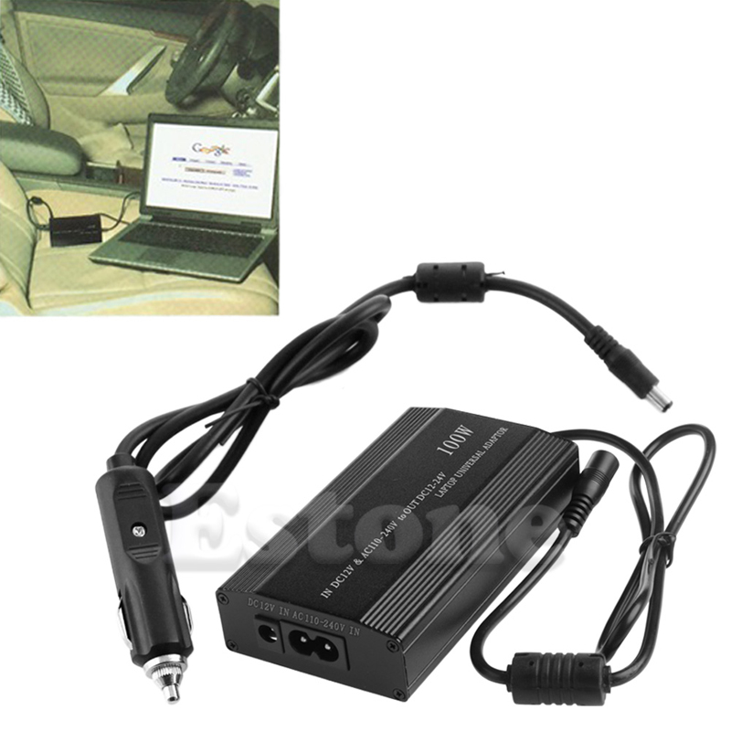 все цены на For Laptop In Car DC Charger Notebook AC Adapter Power Supply 100W Universal онлайн