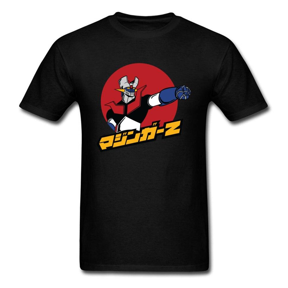 Hombre Mazinger Z T Shirt Japan Anime T-shirt Men Tops Black Clothing Hip Hop Tshirt Summer Boyfriend Gift Tee Fitness