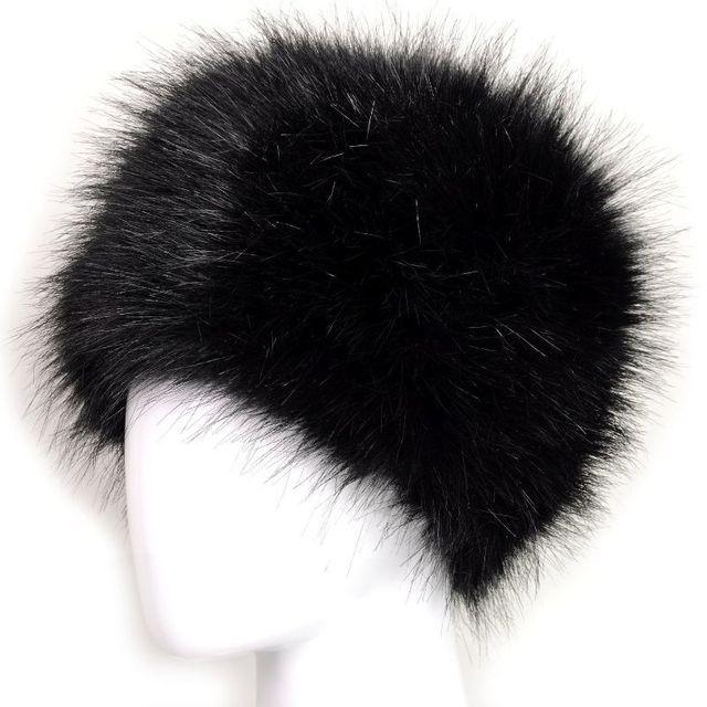 Chapeau dhiver chaud en fausse fourrure de renard | Nouveau chapeau de bombardier pour femmes Style russe, chapeau moelleux à la mode en forme de tique naturelle 1 pièce