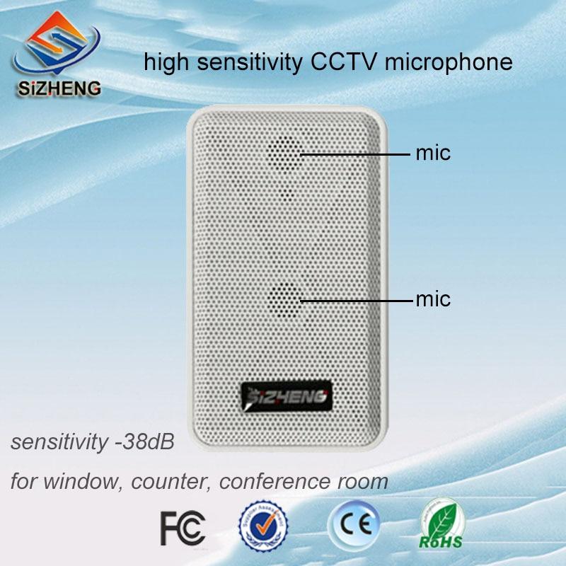 SIZHENG COTT S20 High sensitivity audio pickups CCTV microphone sound monitor for security camera surveillance DVR
