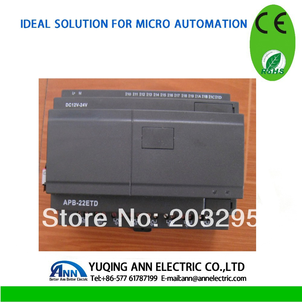 PLC module   APB-22ETD,DC12V-24V,14 points digital input,8 point NPN transistor output om zfv sc90 140605 industry industrial use automation plc module p v