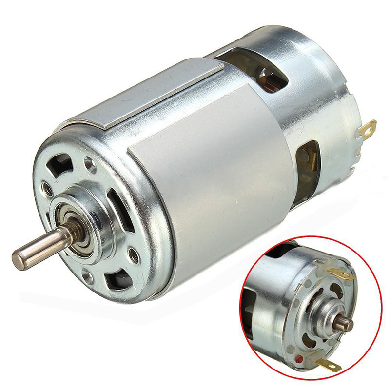 High power 12v 24v dc motor 775 large torque ball bearing for 24v dc motor high torque low speed