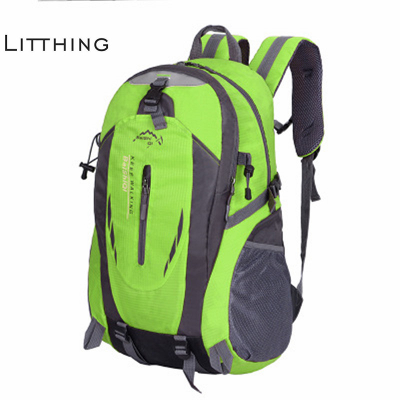 Litthing Laptop Men Backpack Black Nylon Waterproof Backpacks Male Escolar Bag Outdoor Travel Anttheft Quality Mochila Masculina