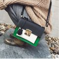 The new women bags joker color small square bump fashion purse single shoulder bag inclined shoulder bag