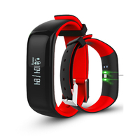 Smartband Watches Blood Pressure P1 Bluetooth Smart Bracelet Heart Rate Monitor Smart Wristband Fitness for Android IOS PW43