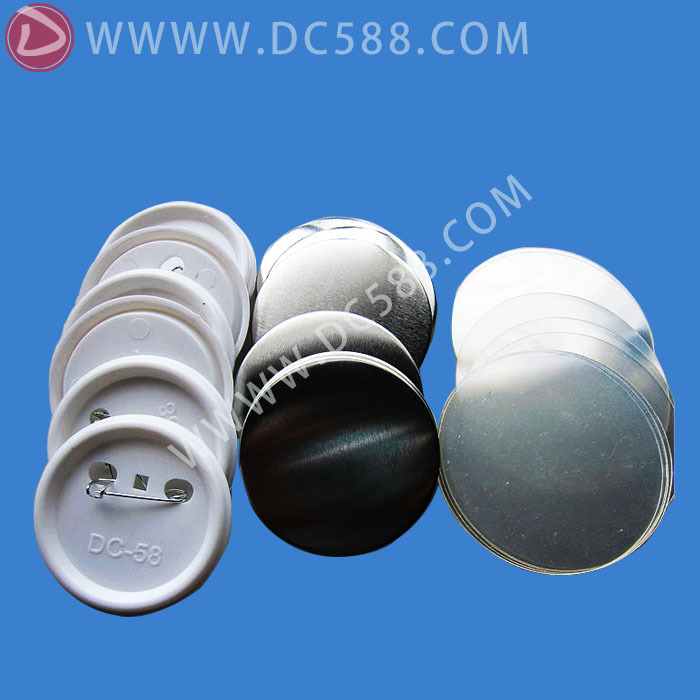 1000 sets ( 58mm) pin button badge material,Blank button parts 2016 new badge material of 1000sets 37mm blank pin button badge material parts badge production material dc 37