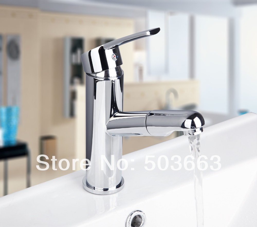 Modern Wholesale And Retail Chrome Solid Brass Water Power Kitchen Faucet Swivel Spout Pull Out Vessel Sink Mixer MF-503 good quality wholesale and retail chrome finished pull out spring kitchen faucet swivel spout vessel sink mixer tap lk 9907