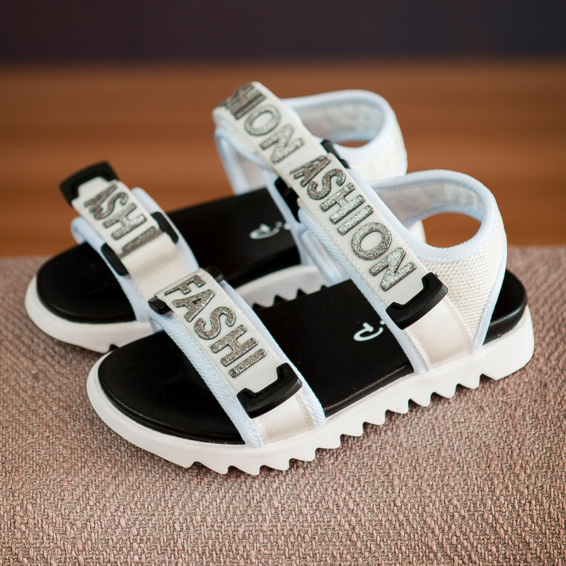 Children Shoes Boys Sandals 2018 New Summer Fabric Sandals Fashion Baby Girls Breathable Ribbon Casual Beach Shoes KS483