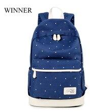 Победитель Марка рюкзак большой емкости печать рюкзак женский качества школьная сумка для подростка рюкзак дорожная сумка Mochila