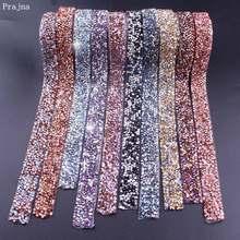 Prajna 1 Yard Rhinestones Tape 1.5CM Motif Hotfix Strass Crystal Decoration Rhinestone Ribbon For Dresses Wedding Clothing DIY