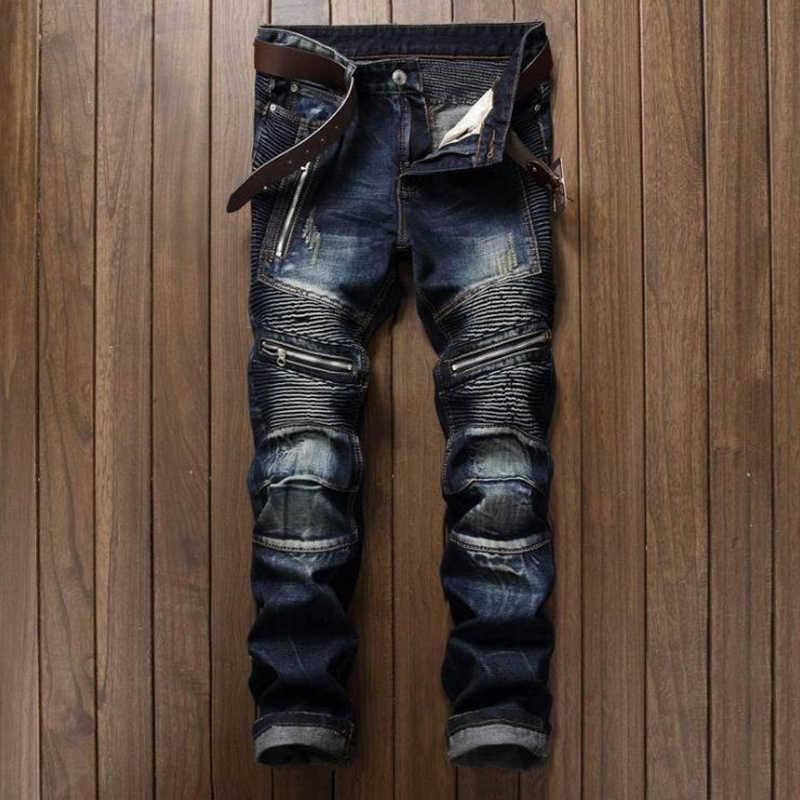 2020 Vendita calda Dropshipping Casual Degli Uomini Dei Jeans Slim Fit Hip Hop Degli Uomini Del Denim dei Jeans di Alta Qualità Pantaloni Moto di Alta qualità
