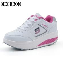 Обувь для похудения Женские модные кожаные повседневные туфли женские кроссовки для фитнеса на изогнутой платформе Летние завод которого наивысшего качества обувь 3501 Вт