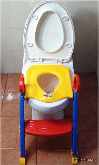 Moda passo e assento Potty em um bebê Potties banco de fraldas crianças escada formação wc Bambino