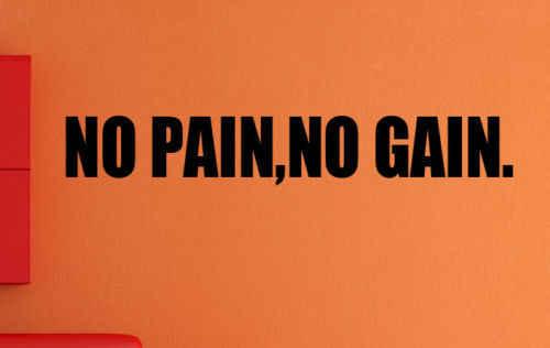 F13 без боли Нет усиления Фитнес тренировки мотивационные виниловая наклейка