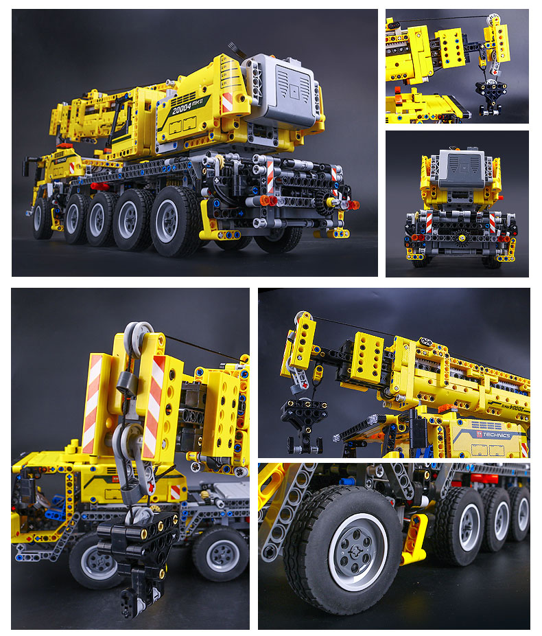 DHL 20004 Technic Motor Power Mobile Crane Mk II Model Building Kits Blocks Bricks Birthday Compatible with Legoings 42009 Toys 19