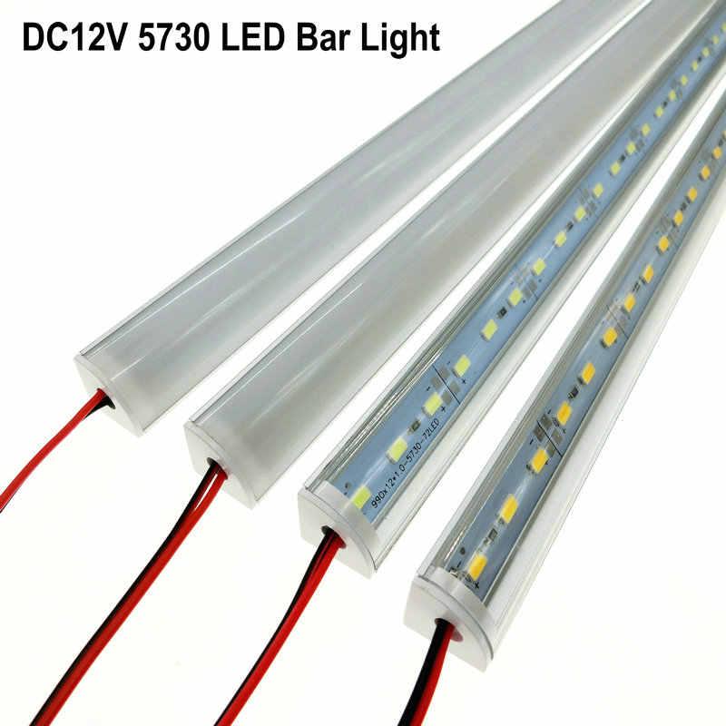 5 шт/лот настенный угловой СВЕТОДИОДНЫЙ светильник DC 12 В 50 см SMD 5730 твердая Светодиодная лента для кухни под шкафом