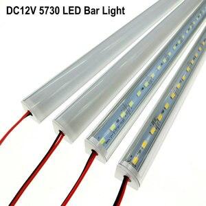 Image 2 - 5 adet/grup duvar köşe LED Bar ışık DC 12V 50cm SMD 5730 sert LED şerit ışık için mutfak kabine altında