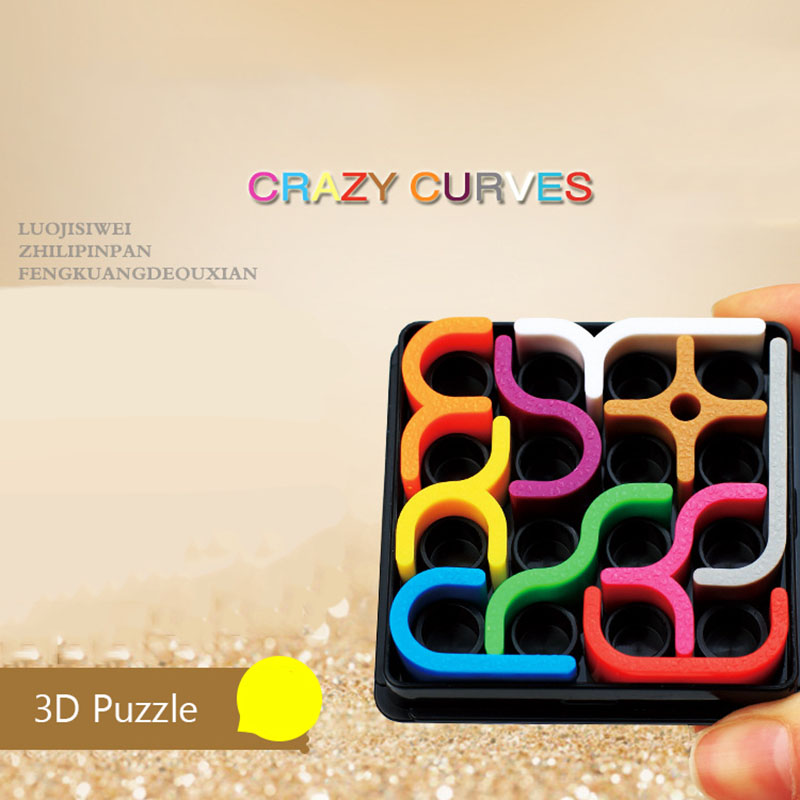 Image 2 - Creative 3D Intelligence Puzzle Crazy Curve Sudoku Puzzle Games Geometric Line Matrix Puzzle Toys For Children Learning Toy Gift-in Puzzles from Toys & Hobbies