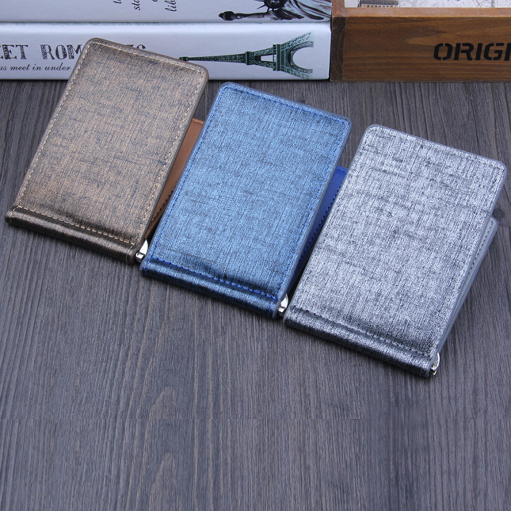 Fashion Men Bifold Business Leather Wallet Purse Luxury Brand Man Id