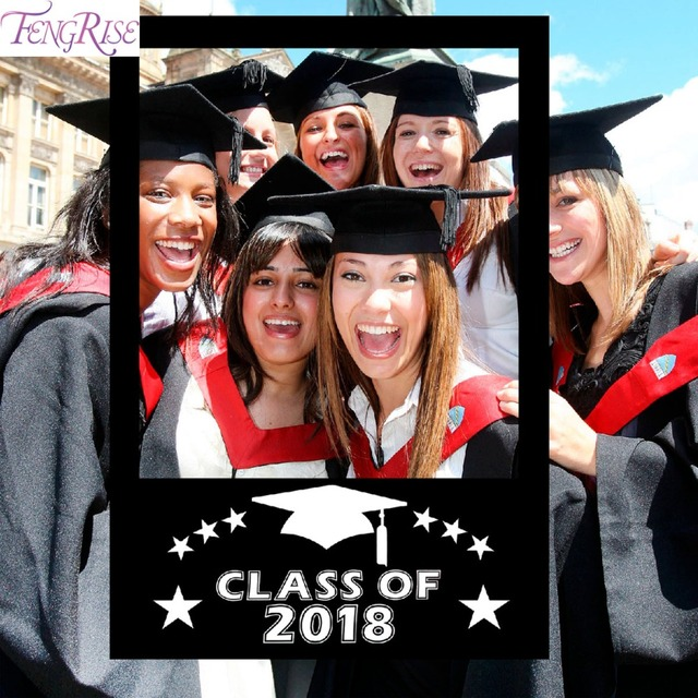 FENGRISE Graduation Party Decoration 2018 Photo Booth Props ...
