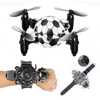 RCtown DH 880 0.3MP Camera Wifi FPV Foldable Mini Drone Football Shape Watch Controller Altitude Hold RC Drone Quadcopter d50