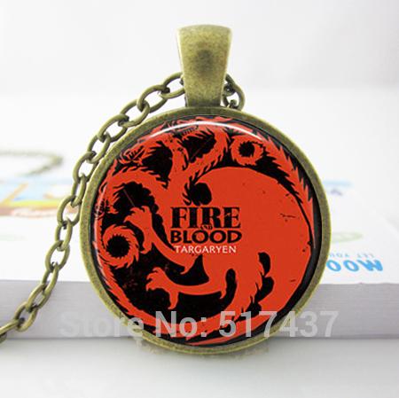Game of Thrones House Targaryen Fire Blood Dragon 25mm Pendant Locket