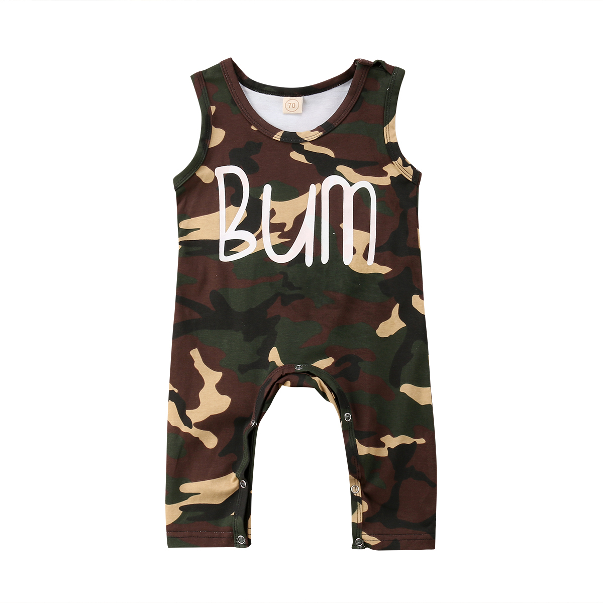 0-24M Newborn Baby Boy Summer Sleeveless Camouflage Romper Jumpsuit Outfits Baby Clothes
