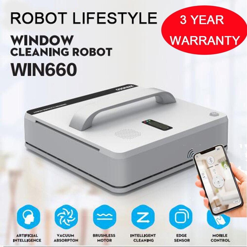 Magnético no interior ao ar livre alta de altura Win660 mais limpo robô Automático aspirador de pó robô de limpeza de janelas limpador de janelas