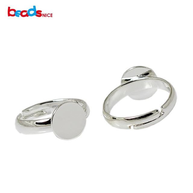 Beadsnice Brass Pad Ring Base Hot Sale Fashion DIY Jewelry Accessories Gift Child's Jewelry Findings 8mmX14.5mm ID2513