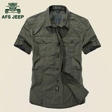 Hohe Qualität Marke Männer Kurzarm Battlefield Militärhemden Werkzeug Shirt 100% Baumwolle herren Sommer Casual Shirts 1391
