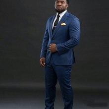 Side Vent Custom Made Navy Blue Business Men Suits for Wedding Man Blazer Jacket Groom Tuxedos 2Piece Coat+Pants Costume Homme