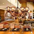 Amerikanischen Glas Pendelleuchten loft 6 kopf Nordic retro kreative restaurant bar cafe zimmer leinen Pendelleuchten|pendant lamp|glass pendant lightpendant light loft -