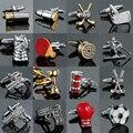 18 стиль Mix кольцо конструкций запонки Для мужчин дизайнерские запонки золотого цвета Пуля Дизайн Новинка Gun дизайн запонки - фото
