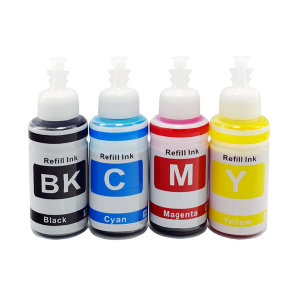 4colors *70ml Bottle Refill Ink Kit Compatible Ink for Printer Epson L100 L110 L132 L200 L210 L222 L300 L362 L366 L550 L555 L566 dste slb 10a 1300mah battery for samsung l100 l110 l200 l210 wb250f wb200f wb280f