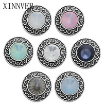10Pcs/lot Xinnver Snap Crystal Snap Button For Charms Bracelet Fit DIY 18mm Snap Jewelry For Women ZA482