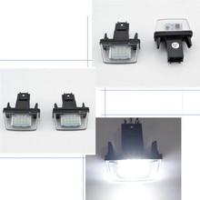 2 шт. светодиодный лицензии подсветка номерного знака Лампы для peugeot 206/207/307/308 Citroen C3-C6