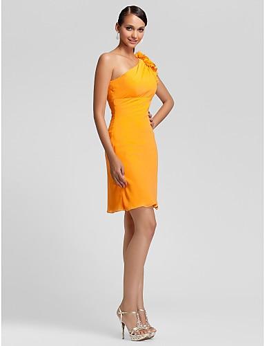 Orange/Royal Blue/Jade/Dunkelgrün Kurze Brautjungfer Kleid Schulter ...