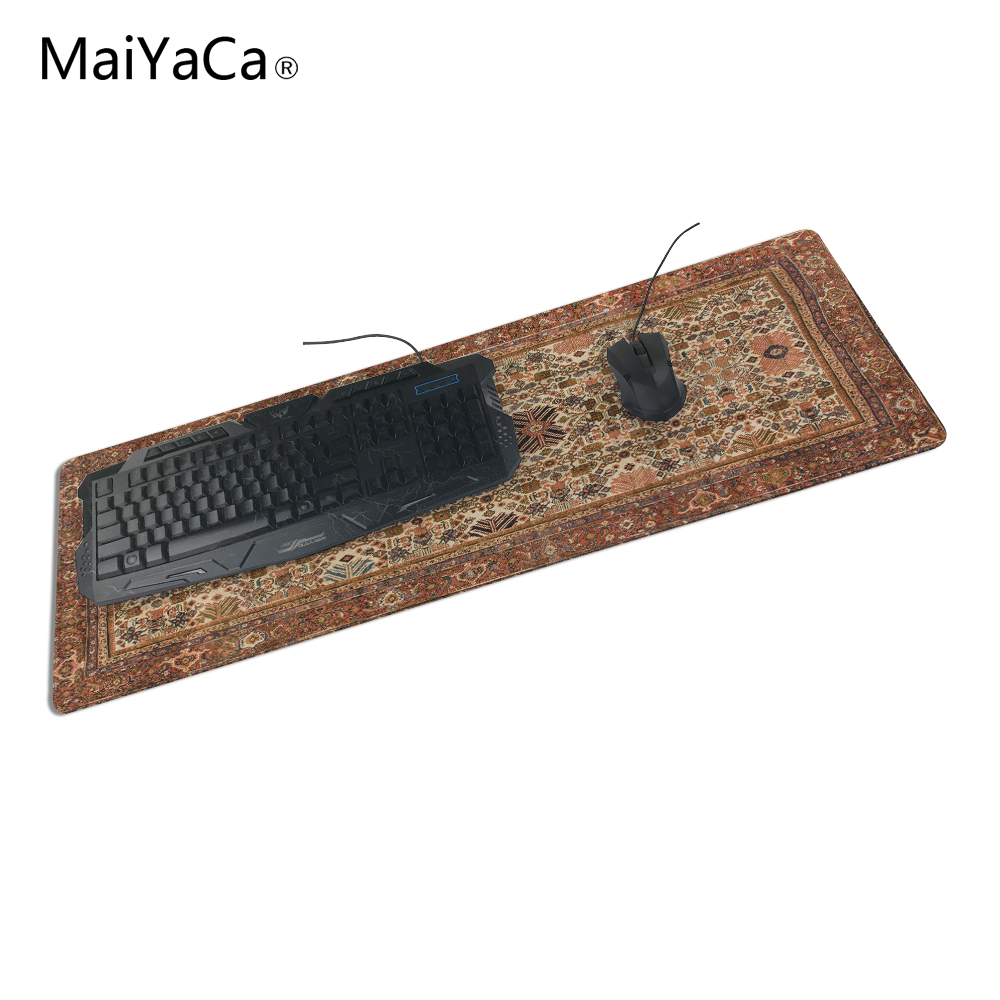 Maiyaca Top-selling Size Persian Carpet Mouse Pad Lock Edge Game Computer Keyboard Pad Player Speed Control Mousemat