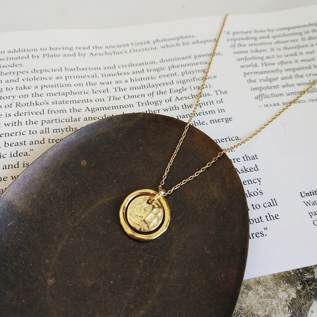 LouLeur 925 sterling silver Eternal love gold pendant necklace seas run dry rocks crumble creative neckalce for women jewelry