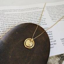 LouLeur 925 فضة الأبدية الحب حلية ذهبية قلادة البحار تشغيل الصخور الجافة تنهار قلادة الإبداعية للنساء مجوهرات