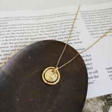 Louleur 925 prata esterlina amor eterno ouro pingente colar mares correr rochas secas desmoronar criativo neckalce para jóias femininas