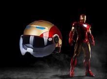 YEMA iron man helmet scooter motorcycle Helmet  cool half face electric biker motorbike safety racing helmets men